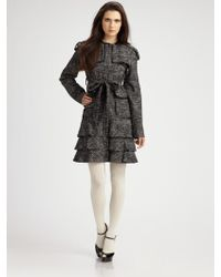 Nanette Lepore Dreamy Tweed Coat - Lyst