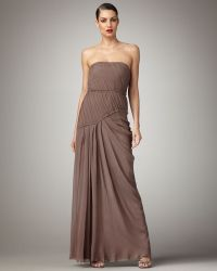 Vera Wang Lavender Strapless Bustier Gown gray - Lyst