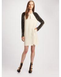 3.1 Phillip Lim Static Beaded-sleeve Dress - Lyst