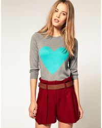 ASOS Collection Asos Angora Jumper with Heart - Lyst