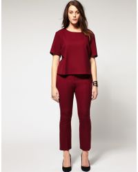 ASOS Collection Asos Curve Cropped Kickflare Trousers - Lyst
