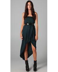 Doo. Ri - Belted Strapless Dress - Lyst