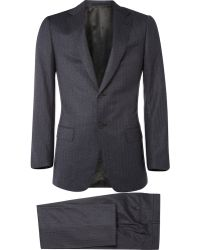 Dunhill - Pinstripe Classic Wool Suit - Lyst
