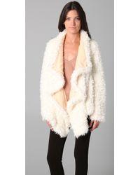 Free People Sherpa Coat  - White