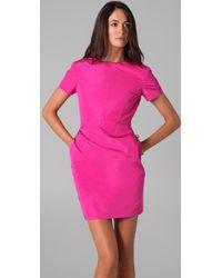 Katie Ermilio - Cutout Ruffle Mini Dress - Lyst