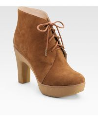 Kors by Michael Kors Divina Suede Lace-up Ankle Boots - Brown