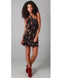 Madison Marcus - Bewilder Print Halter Dress - Lyst