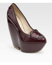 Nicholas Kirkwood Patent Leather Wedges - Lyst