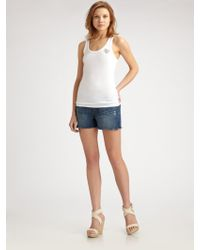 Twisted Heart - Embellished Cotton and Modal Tank Top - Lyst