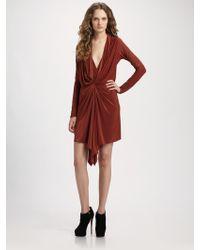 Vena Cava Pager Draped Jersey Dress - Lyst