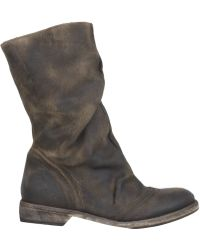 AllSaints Collapse Shearling Boot brown - Lyst