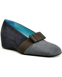 Thierry Rabotin - Tamara - Grey Suede Color Blocked Wedge - Lyst