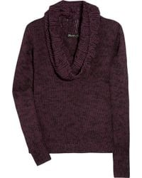 Elizabeth And James Knitted Cotton-blend Sweater - Lyst