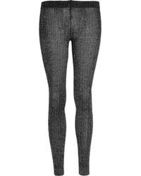 Miu Miu Metallic Wool-blend Leggings - Black