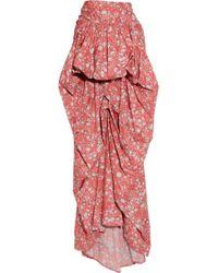 Thakoon - Batik-print Cotton Bustle Skirt - Lyst