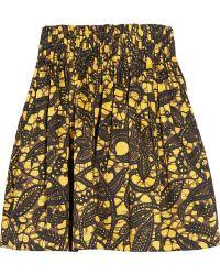 Thakoon Batik-print Stretch-cotton Skirt