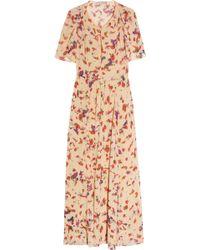 Vanessa Bruno Floral-print Silk-georgette Dress - Lyst
