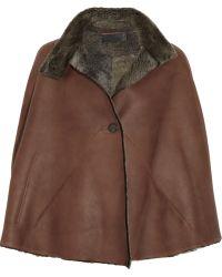 Zero + Maria Cornejo Shearling-lined Leather Cape - Lyst