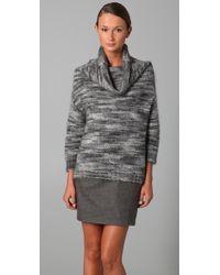 Lela Rose Ombre Stripe Cowl Neck Sweater - Lyst