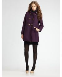 Milly Kenmare Double-breasted Coat - Lyst