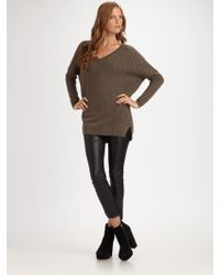 Vince Cashmere Cable-knit V-neck Sweater - Lyst