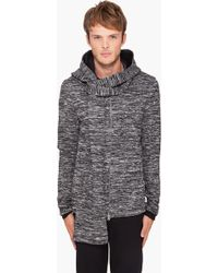 3.1 Phillip Lim Hooded Knit Zip Sweater - Lyst