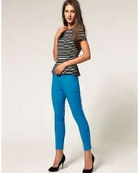 ASOS Collection Asos Super Skinny Tailored Trouser with Pintuck Front - Lyst