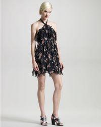 Madison Marcus - Bewilder Ruffled Silk Dress - Lyst