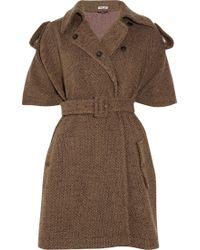 Miu Miu Woolblend Tweed Cape - Brown
