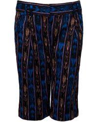 Proenza Schouler Ikat Long Shorts - Blue