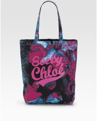 See By Chloé See By Girl Canvas Tote - Lyst