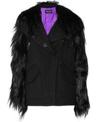 Sonia Rykiel Wool-twill and Goat Hair Oversized Jacket - Lyst