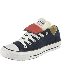 Converse Converse Chuck Taylor Double Tongue Trainers, Navy/cream - Lyst