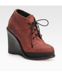 Rag & Bone Odval Desert Suede Wedge Ankle Boots - Lyst