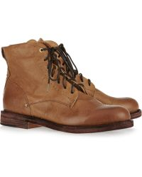 Rag & Bone Wessex Leather Lace-up Boots brown - Lyst