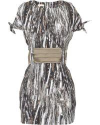 Sass & Bide End Of An Era Printed Silk Dress - Grey