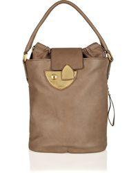 Vionnet Lock-fastening Textured-leather Bag - Lyst