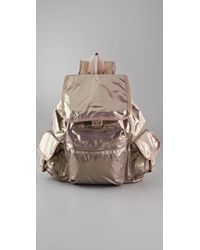 LeSportsac The Voyager Backpack in Brilliant Sparkle - Metallic
