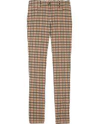 Daks Checked Stretch-cotton Trousers - Multicolour