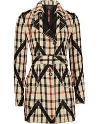 Daks Wool-blend Plaid Coat - Multicolour
