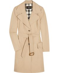 Daks Belted Stretch-cotton Trench Coat - Natural
