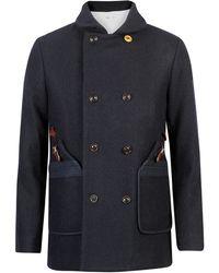 Folk Wool Overcoat  - Lyst