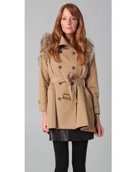 Rebecca Minkoff Jacquelyn Fur-trimmed Trench Coat - Green