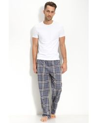 Burberry Check Pajama Set, Gray - Lyst