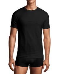 Calvin Klein Stretch Cotton Crewneck T-shirt (2-pack) - Lyst