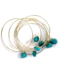 Chic Jewel Couture Turquoise Delight Stacking Bracelets - Lyst