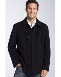 Hugo Boss Boss Black Chester Trim Fit Wool Blend Coat - Lyst