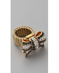 Juicy Couture - Brentwood Prepster Pave Bow Ring - Lyst