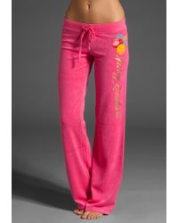 Juicy Couture Juicy Peach Terry Original Leg Pant - Lyst