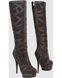 Le Silla High Heeled Boots gray - Lyst